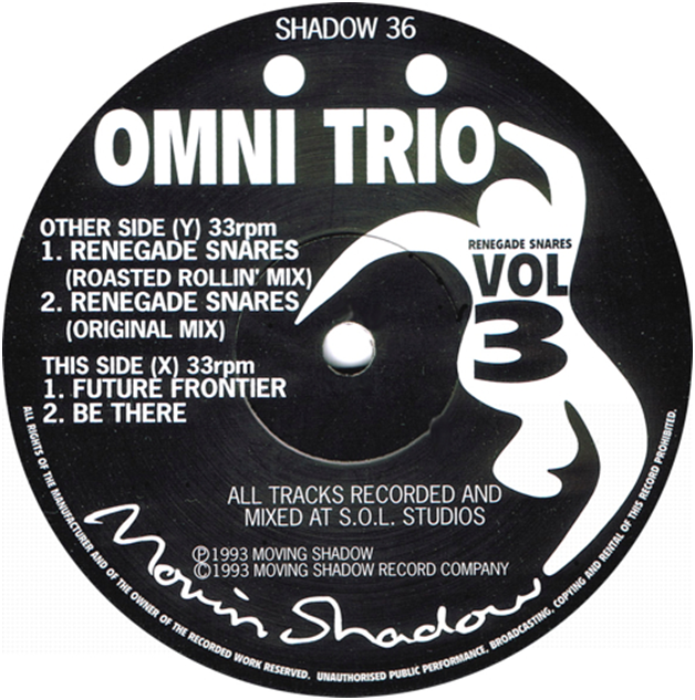 """THE CLASSICS REVISITED – Omni Trio – """"Renegade Snares"""" Moving Shadow 1993"""